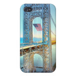 GWB connecting Fort Lee NJ and Manhattan NYPlus iPhone 4/4S Case