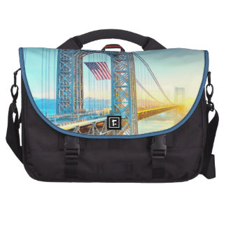 GWB connecting Fort Lee NJ and Manhattan NYPlus Laptop Bags