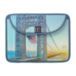 GWB connecting Fort Lee NJ and Manhattan NYPlus MacBook Pro Sleeves