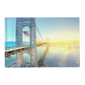GWB connecting Fort Lee NJ and Manhattan NYPlus Placemat