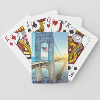 GWB connecting Fort Lee NJ and Manhattan NYPlus Poker Cards