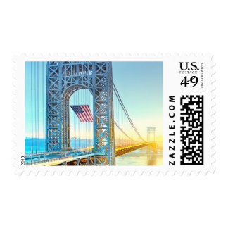 GWB connecting Fort Lee NJ and Manhattan NYPlus Postage