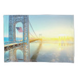 GWB connecting Fort Lee NJ and Manhattan NYPlus Pillowcase