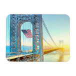 GWB connecting Fort Lee NJ and Manhattan NYPlus Rectangular Photo Magnet