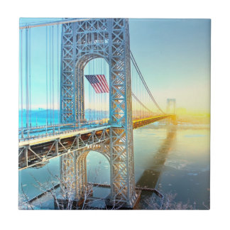GWB connecting Fort Lee NJ and Manhattan NYPlus Tile