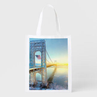 GWB connecting Fort Lee NJ and Manhattan NYPlus Grocery Bag