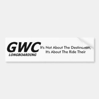 GWC Longboarding Bumper Sticker
