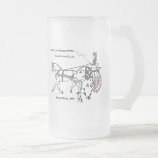 GWDC Road Trial 2011 Frosted Glass Beer Mug