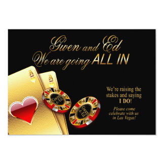 Gwen ALL IN Casino Wedding ASK 4 NAMES IN CHIPS Card