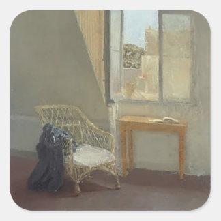 Gwen John- A Corner of the Artist's Room in Paris Square Sticker