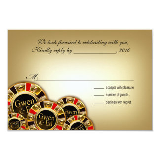 Gwen Las Vegas Casino Party RSVP Card