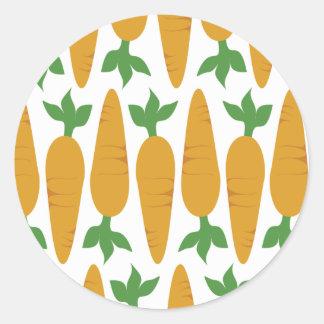Gwennie el bollo: Campo de zanahorias Pegatina Redonda