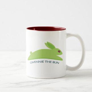Gwennie el bollo taza de café de dos colores