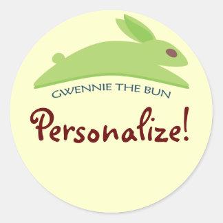 Gwennie The Bun Classic Round Sticker