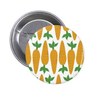 Gwennie The Bun: Field of Carrots 2 Inch Round Button