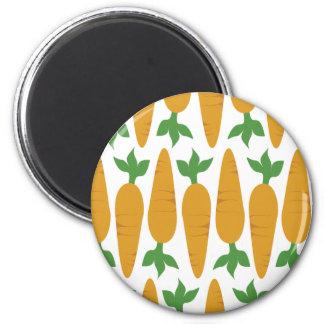 Gwennie The Bun: Field of Carrots 2 Inch Round Magnet