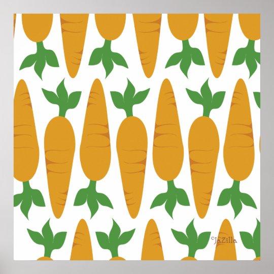 Gwennie The Bun: Field of Carrots Poster