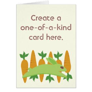 Gwennie The Bun: Gwen With Carrots Greeting Card