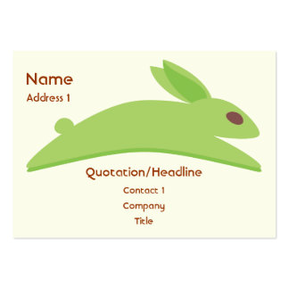 Gwennie The Bun: Gwen With Carrots Large Business Cards (Pack Of 100)