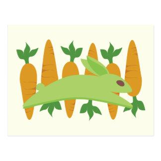 Gwennie The Bun: Gwen With Carrots Postcard