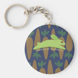Gwennie The Bun Night Raid Basic Round Button Keychain