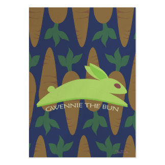 Gwennie The Bun: Night Raider Large Business Cards (Pack Of 100)