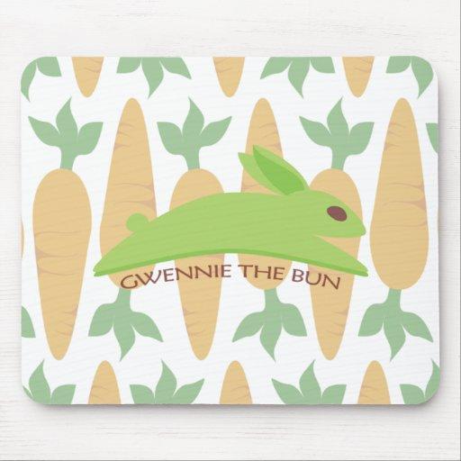 Gwennie The Bun: Night Raider Mouse Pads