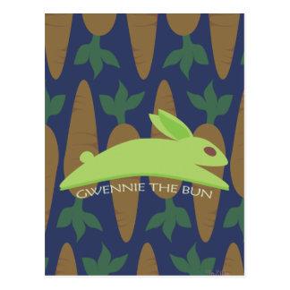 Gwennie The Bun: Night Raider Postcard