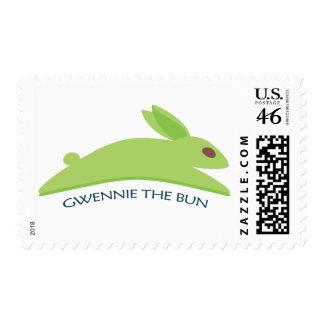 Gwennie The Bun Postage Stamps