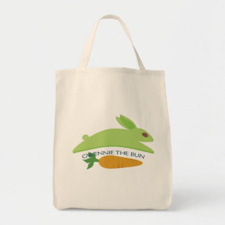 Gwennie The Bun With Carrot Grocery Tote Bag