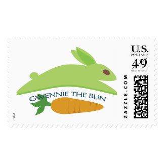 Gwennie The Bun With Carrot Stamps