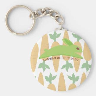 Gwennie The Bun With Carrots Basic Round Button Keychain