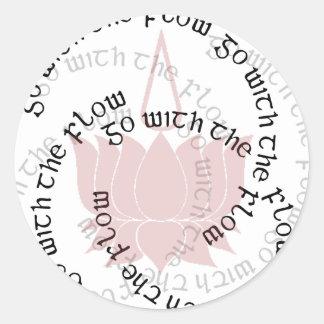 GWF Lotus tipográfico Pegatina Redonda