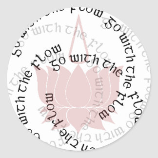 GWF Lotus Typographic Classic Round Sticker