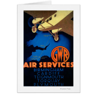 GWR Air Services Vintage PosterEurope Card