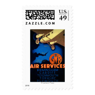 GWR Air Services Vintage PosterEurope Postage Stamp