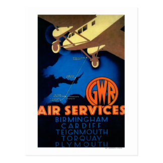 GWR Air Services Vintage PosterEurope Postcards