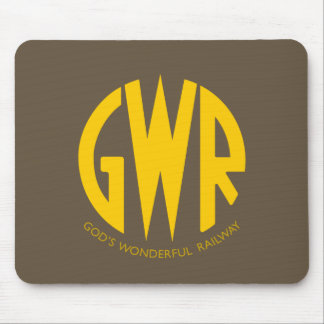 GWR Great Western Railway Vintage Hiking Duck Mouse Pad