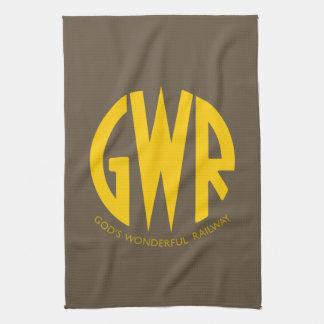 GWR Great Western Railways 1930 Trains Hiking Duck Hand Towel