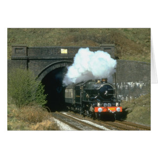 GWR No. 4079 Pendennis Castle emerges from Winchco Card