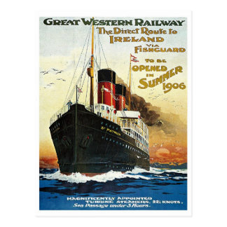 GWR Travel to Ireland Poster Post Cards