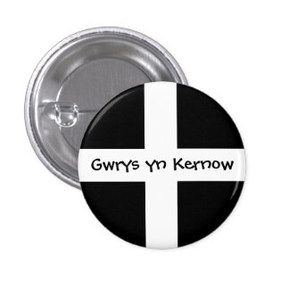 Gwrys yn Kernow - Made in Cornwall 1 Inch Round Button
