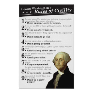 GW's Rules of Civility Poster