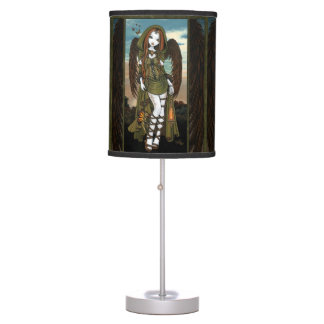 Gwyneth Dragon Huntress Angel Table Lamp