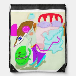 Gwyneth Gets Ready For School Drawstring Bag