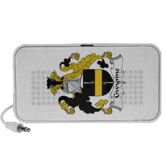 Gwynne Family Crest Travelling Speakers