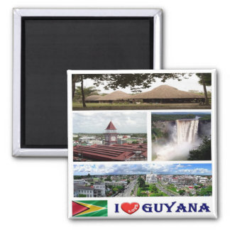 GY - Guyana - I Love - Collage Magnet