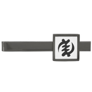 Gye Nyame | God is Supreme Symbol Gunmetal Finish Tie Clip