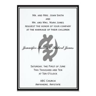 """Gye Nyame Invitation in Black 5"""" X 7"""" Invitation Card"""