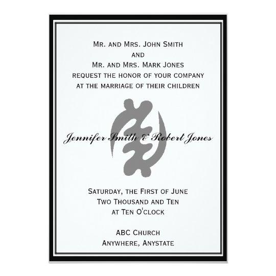 Gye Nyame Invitation in Black
